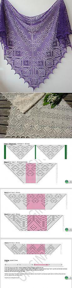 Красивая шаль.