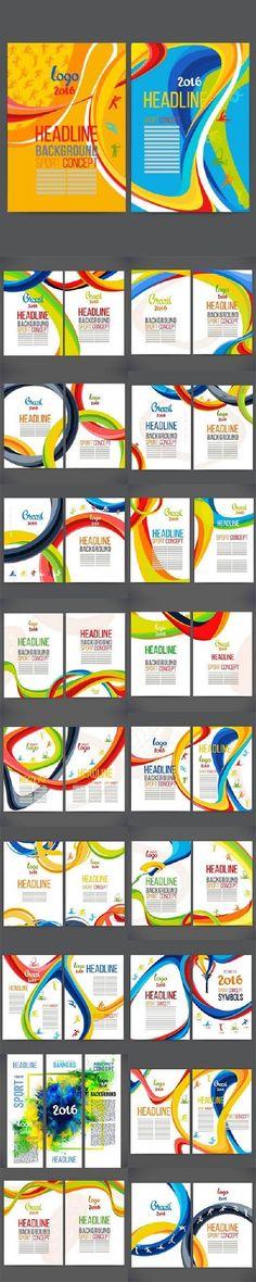 Sport flyer brochure Brazil Rio Olympics