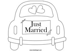 just-married-2 Just Married Auto, Renault Talisman, Wedding Cards, Wedding Gifts, Personalised Gifts Handmade, Gravure Laser, Embroidery Kits, Diy Paper, Doodle Art