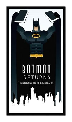 chicagopubliclibrary:  Batman Returns…  His books to the library!  Happy Friday from your friends at the CPL!  I wonder if his alter-ego, Bruce Wayne, sits on his local library board..: