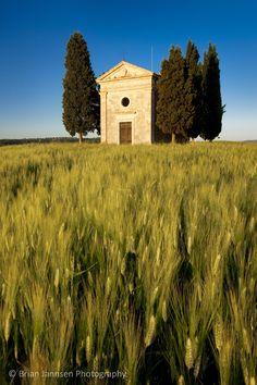Cappella di Vitaleta near San Quirico d'Orcia, Tuscany Italy © Brian Jannsen Photography