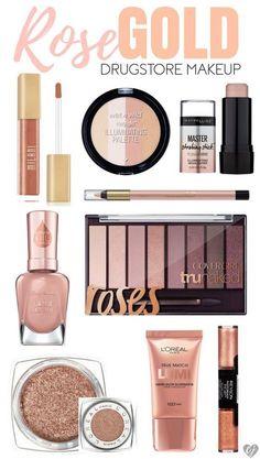 rose gold drugstore makeup