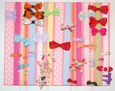 I'm in the middle of creating this now...we'll see how it turns out!  Great idea for storing a kazillion hair bows.