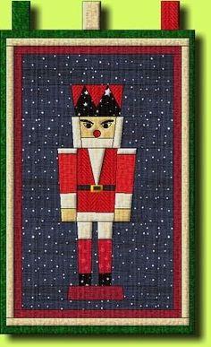Nutcracker - free pattern Block pattern 15 x 30 cm