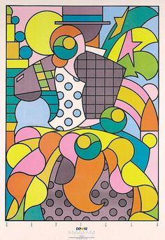 Günther Kieser, poster for Sevilla World's Fair 1992