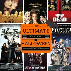 The Ultimate Not So Scary Halloween Movies List via Loulou + Jones