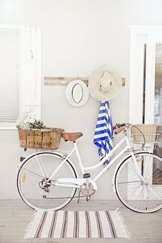 Bicycle - white or mint/light blue green