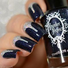Perfect for fall polish opi halfmoon mani navy nailart products used base bean there done that by navy blue nottingham by stiletto stickers from holo nail art nail design prinsesfo Gallery