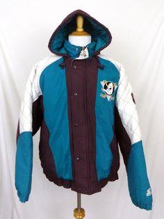 Starter Jacket Large Vintage 1990 s Anaheim Mighty Ducks Insulated NHL  Hockey  Starter  BasicJacket 178b4d5d6