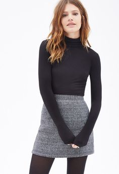 Ribbed Turtle Neck Top | Forever 21 Canada