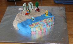 Lego Beach Cake