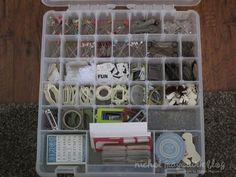 Store Embellishments in ArtBin Super Sachel Slim Compartment Boxes #OrgStorage #Stash #Embellishments #Studio