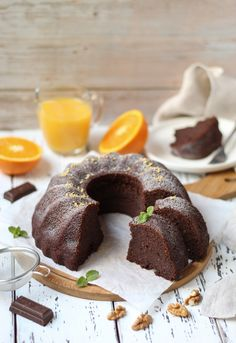 Sočni kuglof sa čokoladom i narandžom - Mystic Cakes Baking Recipes, Cookie Recipes, Dessert Recipes, Mousse, Torte Recipe, Kolaci I Torte, Eat Dessert First, Sweet Cakes, Homemade Cakes