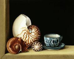 Barron, Jenny  : Still life with Nautilus, ...
