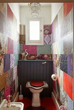 Patchwork toilet