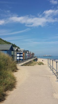 Beach huts. Cromer, Norfolk. England.