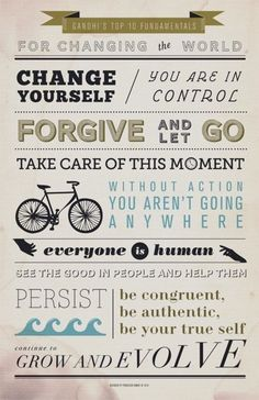 Gandhi's Top Ten Fundamentals for Changing the World