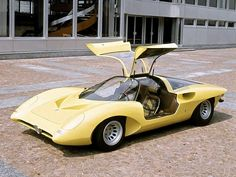Alfa Romeo 33.2 Pininfarina Speciale concept car with gullwing doors debuted at the 1969 Paris Motor Show.
