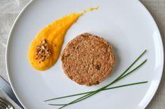 Galettes de sarrasin aux champignons et crème de butternut