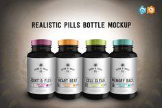 I just released Realistic Pills Bottle Mockup on Creative Market.