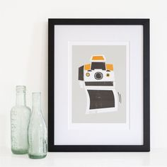 Polaroid Camera Print SX-70 Photographer Gift Love by FoxAndVelvet