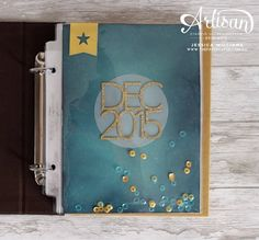 December Daily title page featuring Hello December 2015 range from Project Life by Stampin' Up!