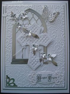 sympathy card by frankie First Communion Cards, Première Communion, Confirmation Cards, Baptism Cards, Spellbinders Cards, Christian Cards, Window Cards, Embossed Cards, Marianne Design