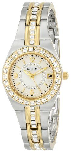 Relic Women's ZR11775 Queen's Court Silver & Gold Two-Tone Watch