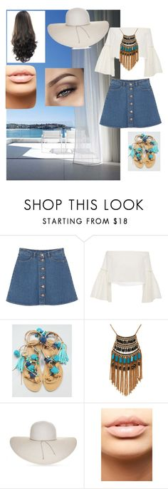 """Untitled #2"" by lujii ❤ liked on Polyvore featuring Folio, Monki, Rosetta Getty, Leslie Danzis, Nine West and MDMflow"