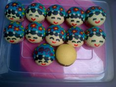 blue princess steamed cupcake