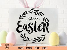 Happy Easter (Graphic) by · Creative Fabrica Happy Easter Clip Art, Calligraphy Cards, Easter T Shirts, Heart Hands Drawing, Happy St Patricks Day, Christmas Clipart, Svg Files For Cricut, Design Crafts, Shapes