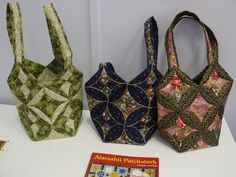 Japanese folded patchwork bags