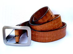 7dd5dff95 Elegante Cinturon de Cuero Legitimo Clasico de por shopvintage1 Cinturones  Hombre, Cinturón De Cuero,