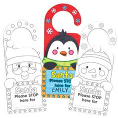 Christmas Personalised Door Hangers for Children to Decorate and Embellish Pack of 8 * You can find more details by visiting the image link. Christmas Crafts, Christmas Decorations, Christmas Ornaments, Holiday Decor, Craft Kits, Craft Activities, Door Hangers, Embellishments, Paper Crafts