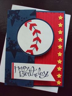 "Masculine ""Batter Up"" Card...Paper Ecstasy - Stampin Up! by trisha"
