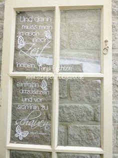 Stempelfix: Der Plotter und die alten Fenster
