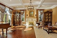 Pokój dzienny w stylu barokowym