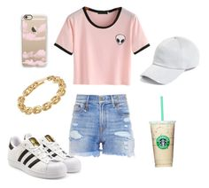 """""""Untitled #170"""" by fabfashionindya ❤ liked on Polyvore featuring adidas Originals, R13, rag & bone, Casetify and Calvin Klein"""
