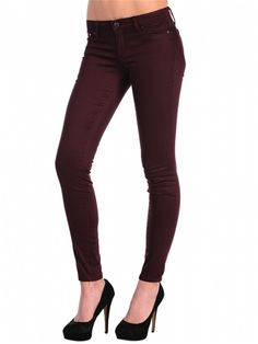 The perfect skinny jean!  Love this wine color on Hanna.