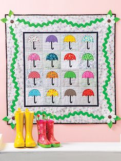 Quilts for a Rainy Day quilts with a rain theme umbrella quilt pattern