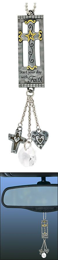 Start Your Day with Faith Car Charm at The Animal Rescue Site
