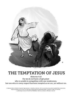 Matthew 4 Jesus Tempted Sunday School Coloring Pages The Story Of Is Filled