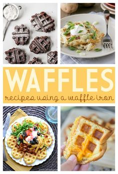 Amazing Waffle Iron Ideas - Recipes on Frugal Coupon Living including Corn Bread Waffles with Chili, Crispy Hash Brown Waffles, Grilled Cheese Waffles, and Brownie Waffles.