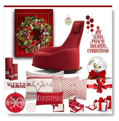"""Santa's Seat..."" by desert-belle ❤ liked on Polyvore featuring interior, interiors, interior design, home, home decor, interior decorating, MacKenzie-Childs, Montis, Levtex and Caspari"
