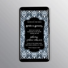 Royal pattern Invitation card with a twist of bright black, blue and white color. Any design wishes; Contact Us. Designer Swapnil- NIFT Alumni