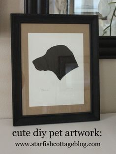 Cute Pet Silhouette Art DIY today on Starfish Cottage www.starfishcottageblog.com