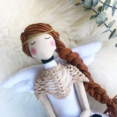 Angel Tilda Doll Personalised Doll Babyshower Rag Doll