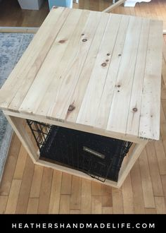 Dog Cage With A Table Built Over It Farmhouse Dogs Dog Cages