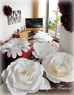 直径1mのペーパーフラワーを作りました!   Paper Flowers 〜ペーパーフラワーデザイナー 前田京子(日本ペーパーアート協会)〜