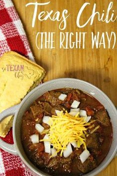 A spicy, meaty Texas chili recipe that's exactly the way chili was MEANT to taste. Perfect for chili dogs, tamales, Frito pie, or just straight out of a bowl!